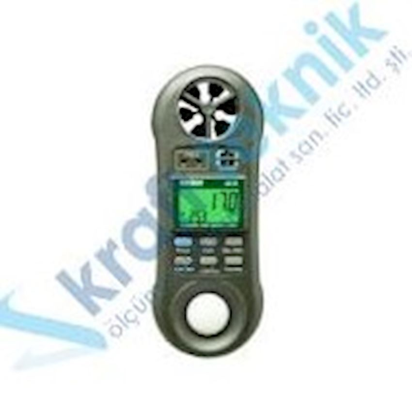 Electronic Speed, Light, Temperature and Humidity Meter