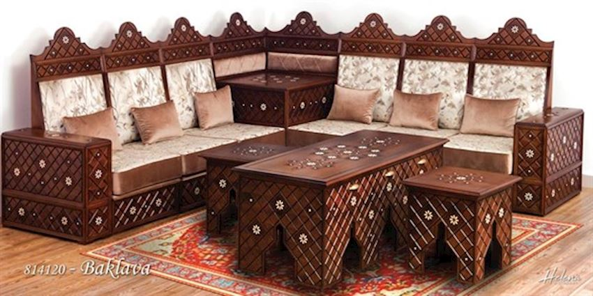EMBROIDERED BAKLAVA SEAT SET (MT TULLE)