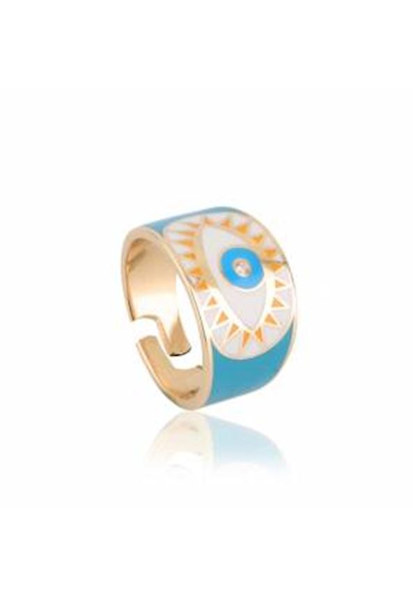 Enamel Eye Knight Ring