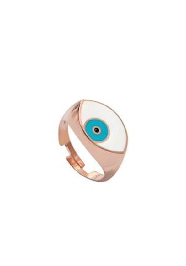 Enamel Eye Silver Ring
