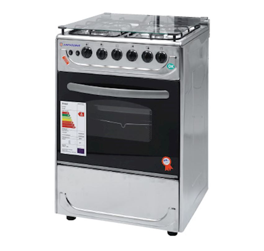 ERENDEMIR  Full Innox Standing Oven