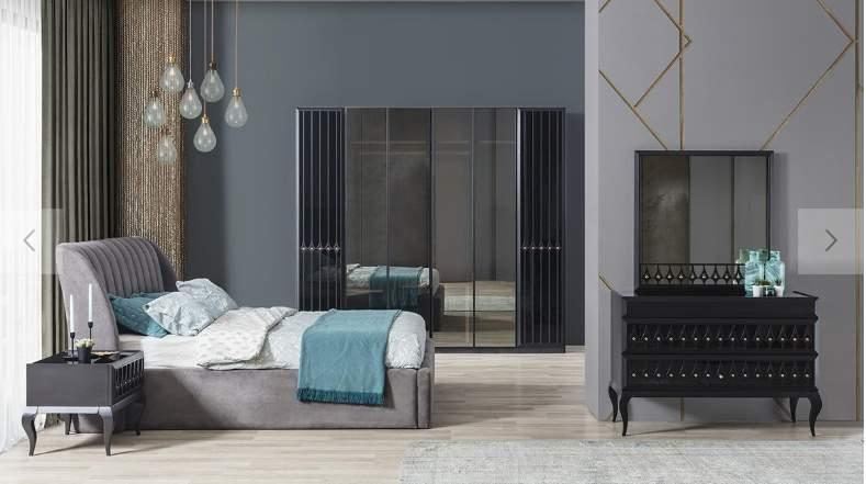 EV GÖR modern black bedroom set Dapena Black Bed Room ...