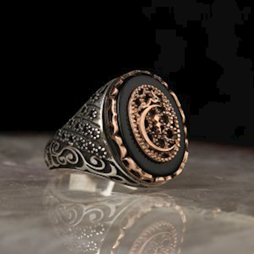 Ever Written Onyx Sterling Silver Ring