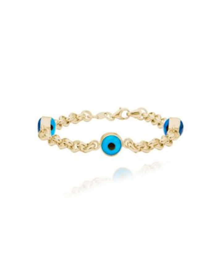 Evil Eye Chain Bracelet, Blue