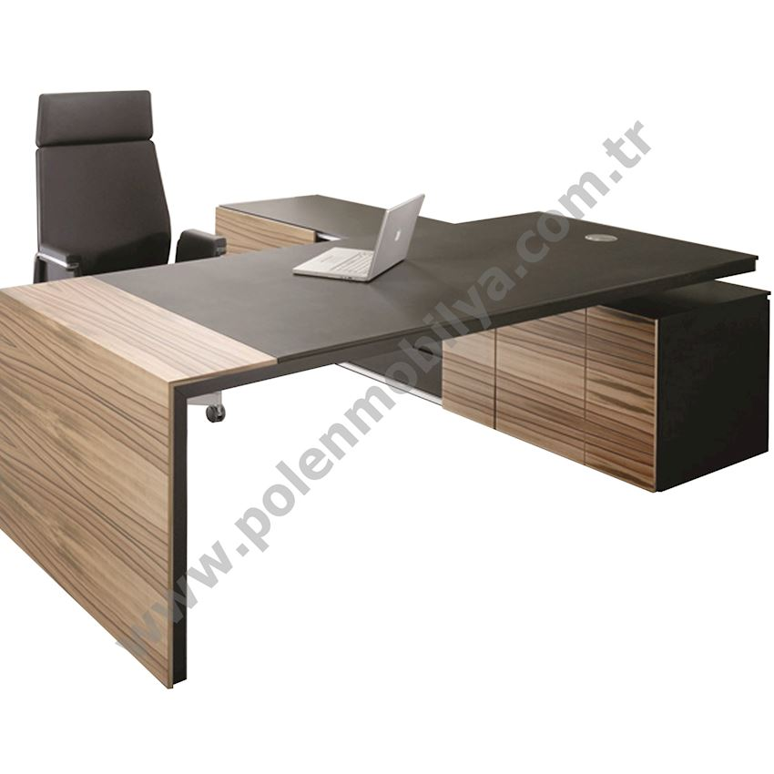 Executive Table with Shelf: 230x180x75h