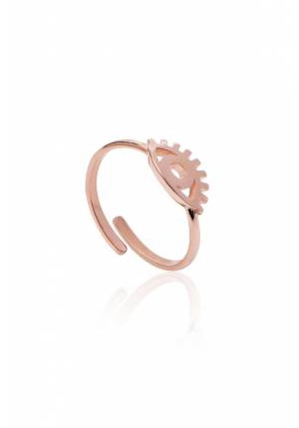Eyelash Eye Simple Silver Ring