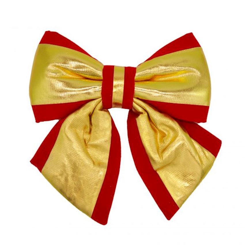 Fabric Bow Christmas Ornament Red 23cm Christmas Decoration Supplies