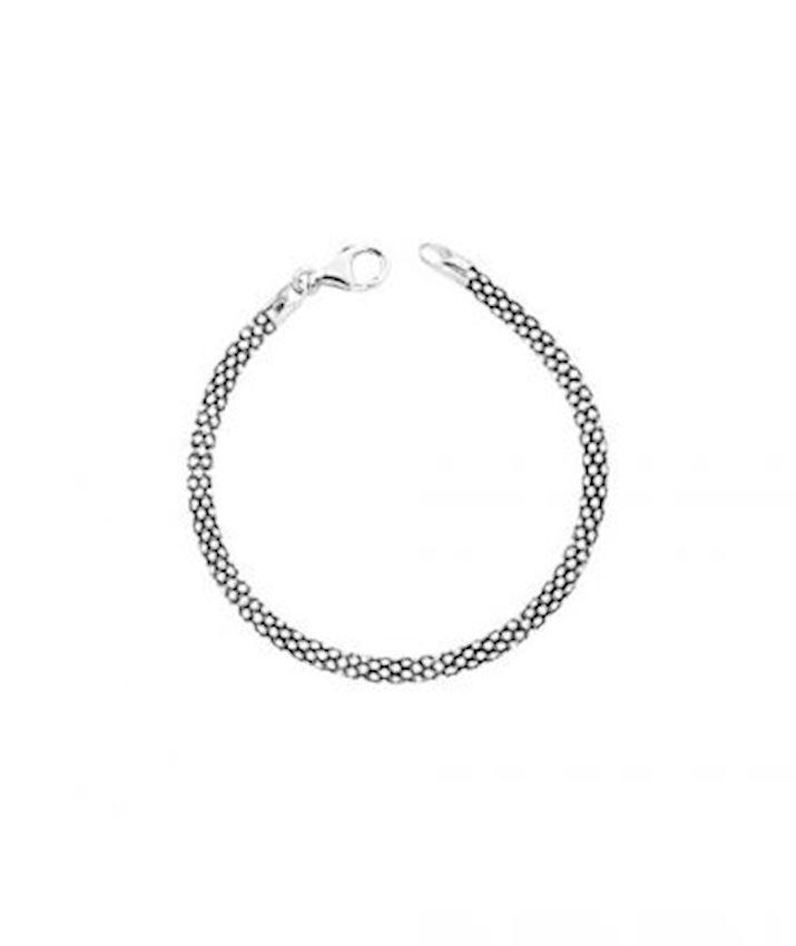 Fancy Popcorn Chain Bracelet Oxidized for Men
