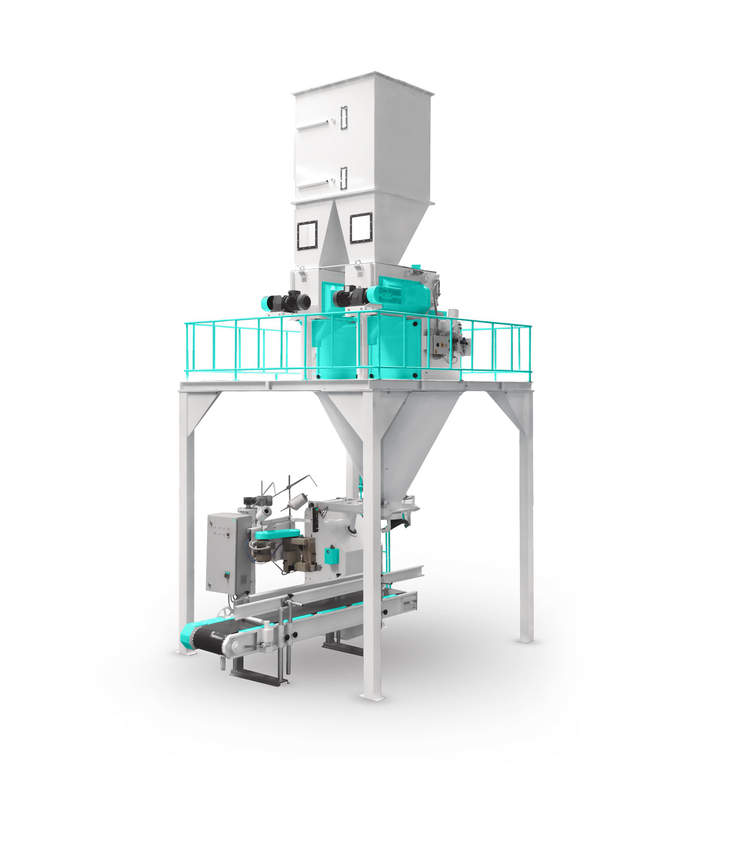 Feed Bagging Machine With Double Weigh Hopper and Single Station