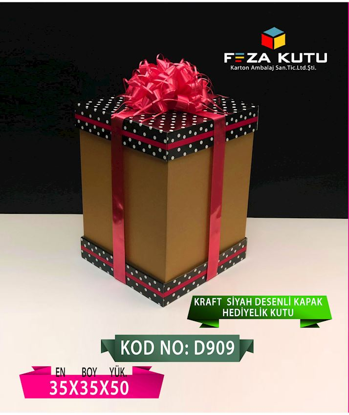 FEZA D909 35X35X50 MULTI PURPOSE GIFT CRAFT BOX Packaging Boxes