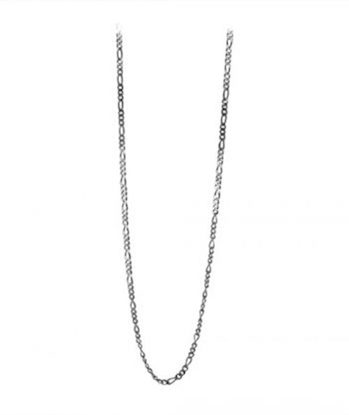 Figaro Chain Necklace Oxidized for Men