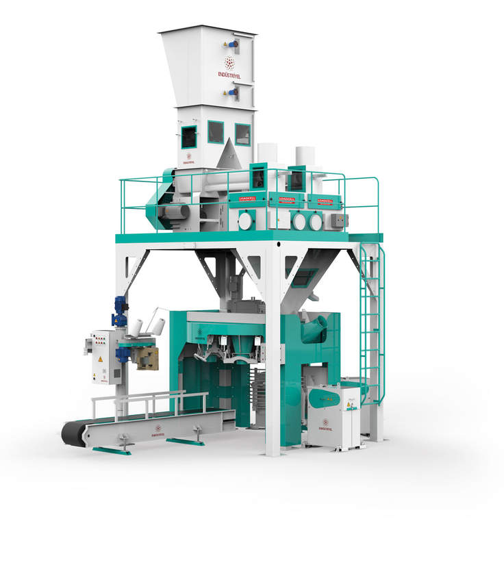 Flour Bagging Machine With Double Weigh Hopper & Six Stations