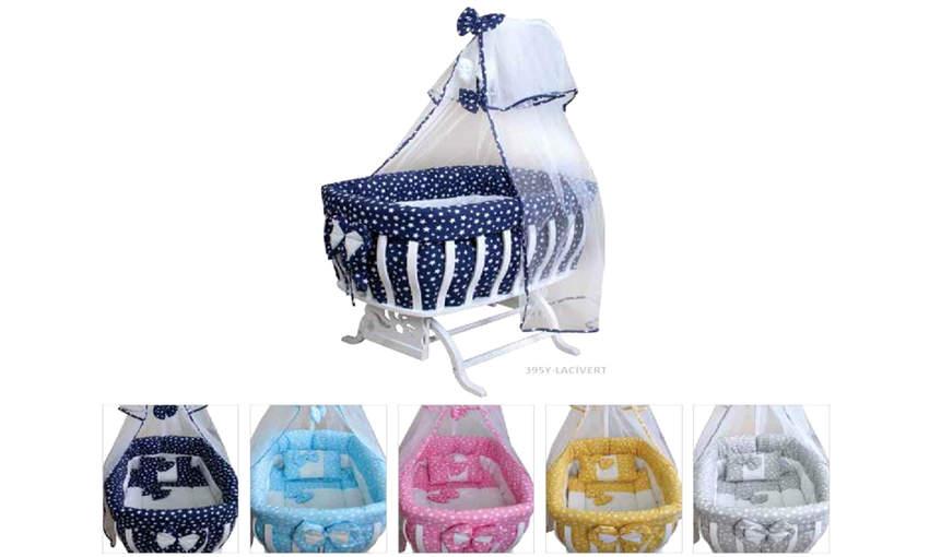 GENÇ ARCHI baby crib Bow Star Series 60 * 90 Children's Cribs