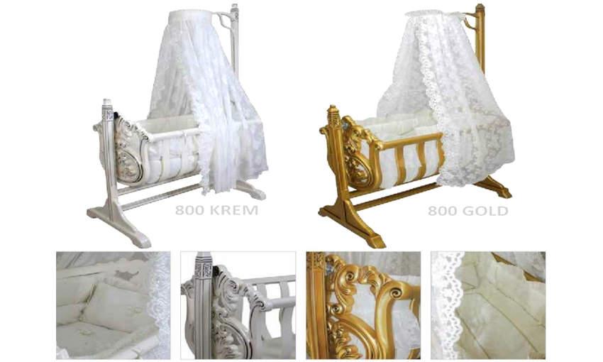 GENÇ ARCHI baby crib Carved Reign Children's Cribs