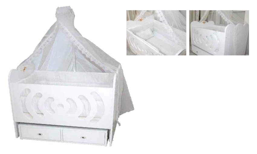GENÇ ARCHI baby crib  King 60 * 90 with 2 drawers Children's Cribs
