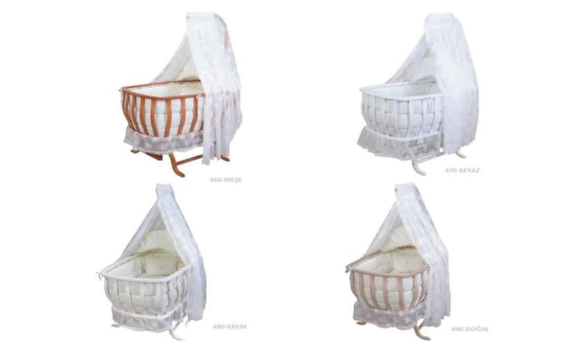 GENÇ ARCHI baby crib Luxury 60 * 90 Basket Crib Laced Children's Cribs