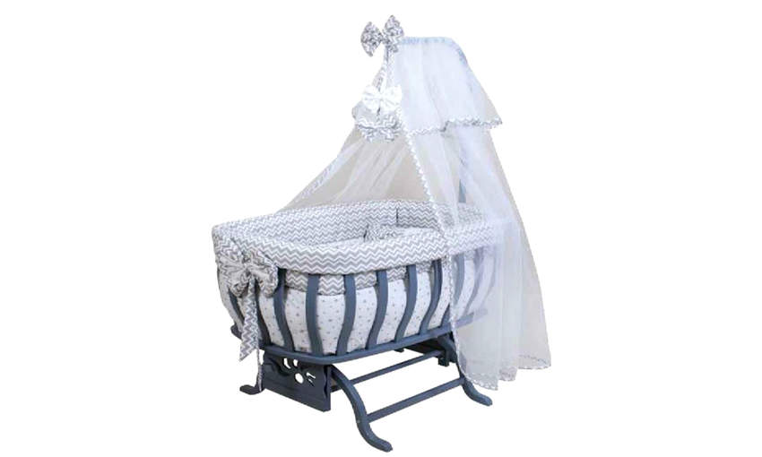 GENÇ ARCHI baby crib Special Series Gray2 with Bow Children's Cribs