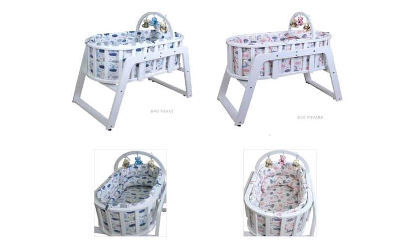 GENÇ ARCHI baby crib Pearl Blue-Pink Pattern 48 * 48 Children's Cribs