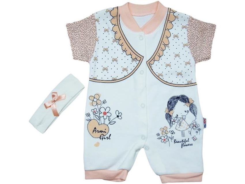 Girl Baby Overalls Girl Print