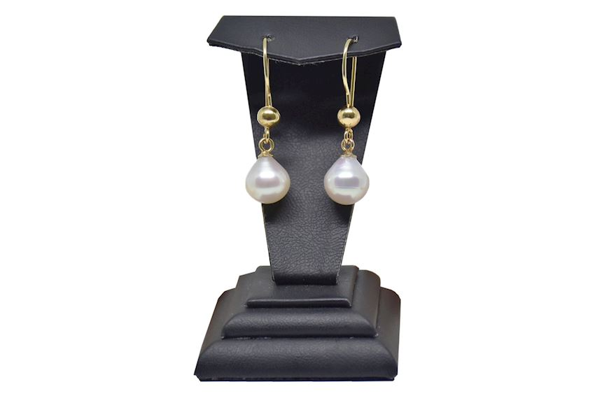 Golden Natural Pearl Earring
