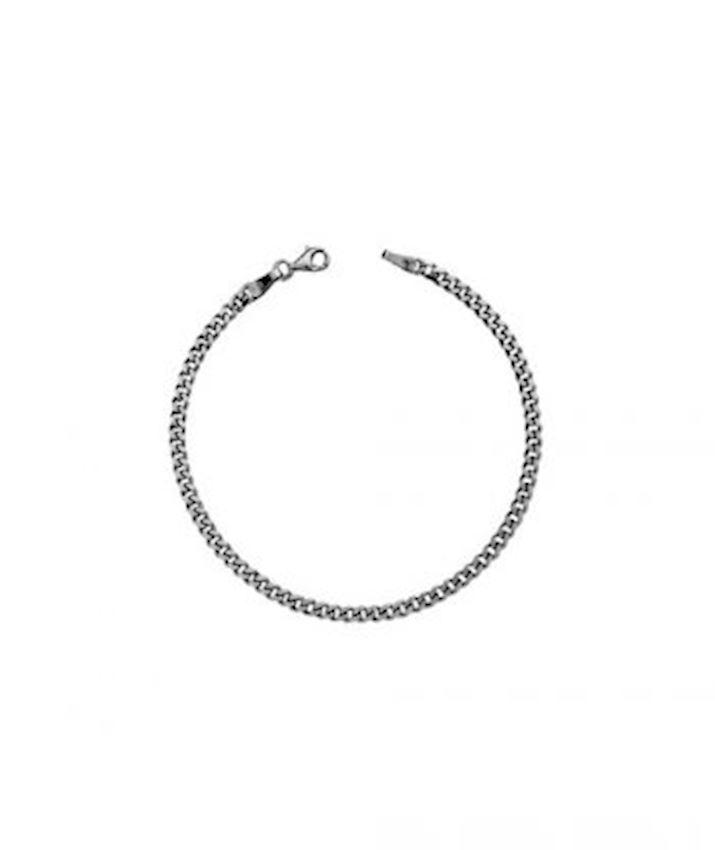 Gourmet Chain Bracelet Oxidized for Men