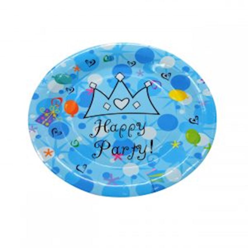 Happy Birthday Party Cardboard Plates Blue Event & Party Supplies
