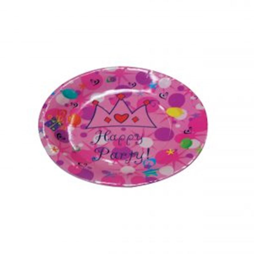 Happy Birthday Party Cardboard Plates Pink Event & Party Supplies