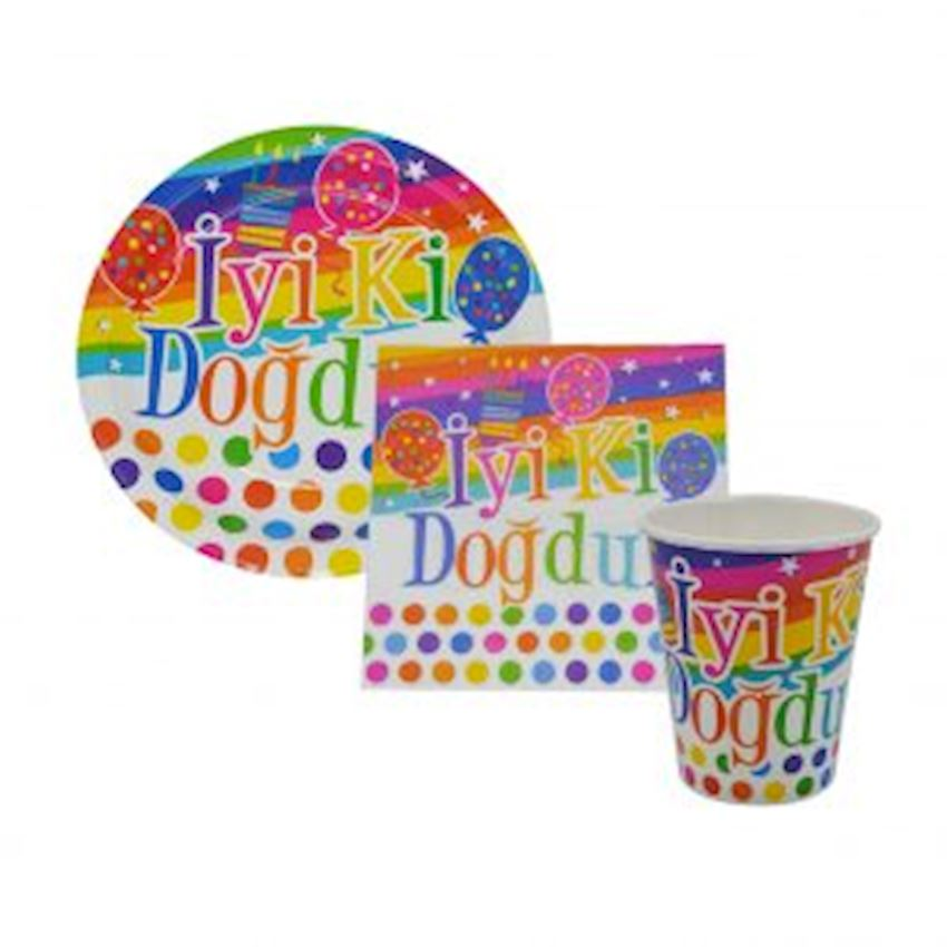 Happy Birthday Party Set for 10 People 41 Pieces Event & Party Supplies