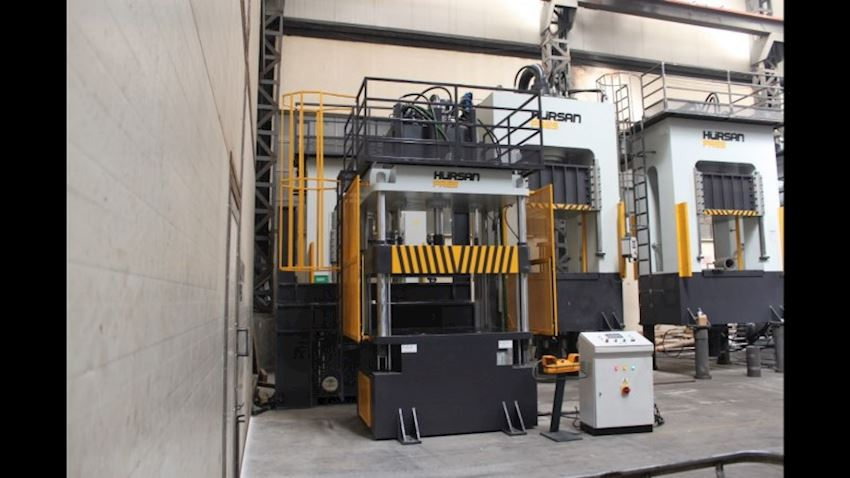 HÜRSAN 200 Ton Capacity 4 Column Hydraulic Double Acting (Deep Drawing) Press