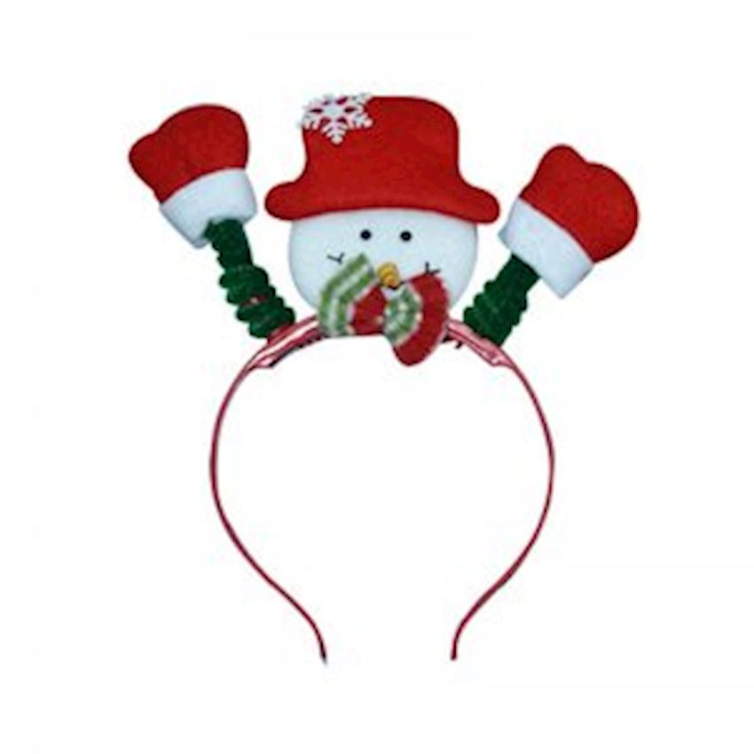 Illuminated Snowman Red Christmas Crown Christmas Decoration Supplies