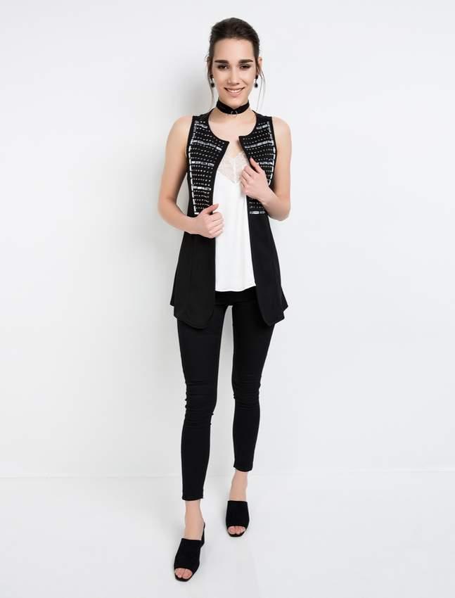 Innovative Designs Vest Blouse & Pants Suit Women's T-Shirts