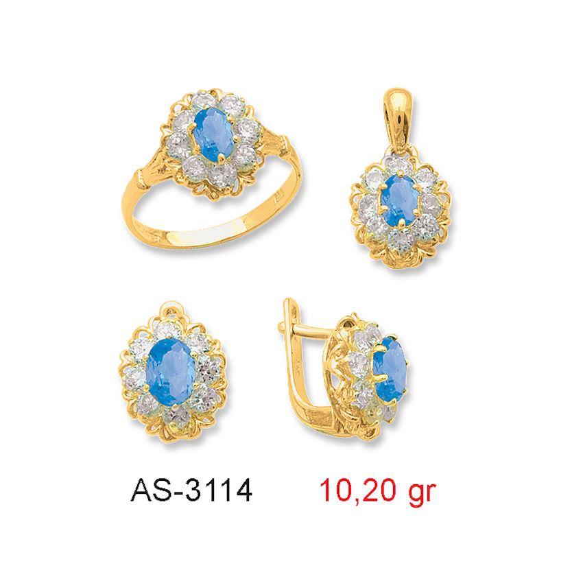 Jewelry Sets- COLORED MINI SET -1 AS-3114