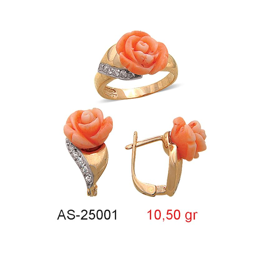 Jewelry Sets- CORAL MINI SET  AS-25001