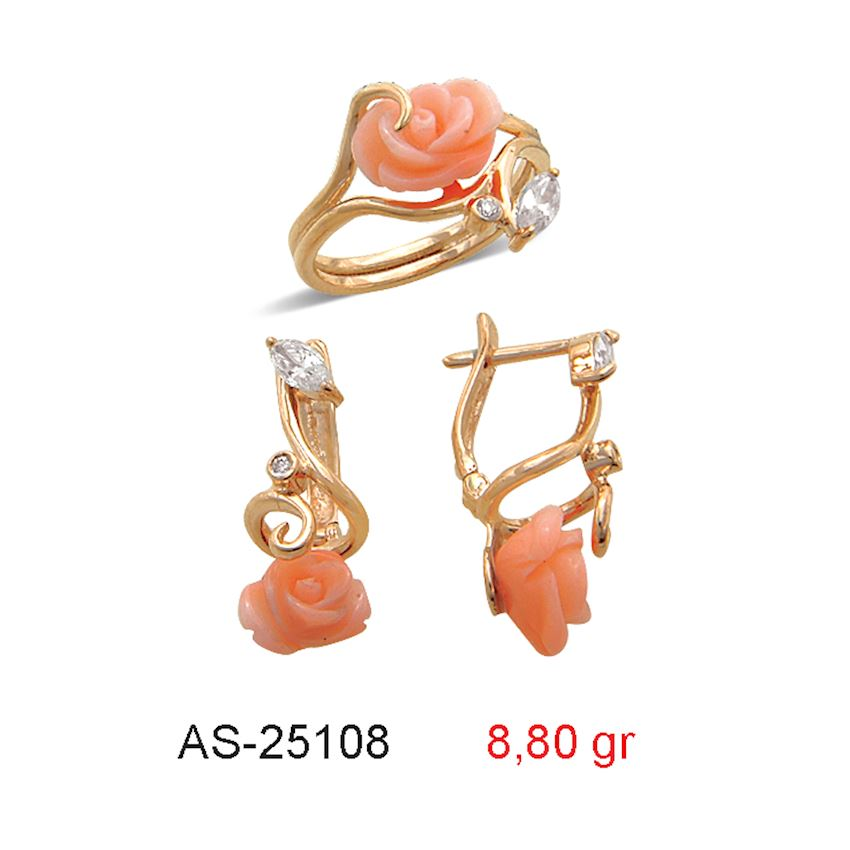 Jewelry Sets- CORAL MINI SET  AS-25108