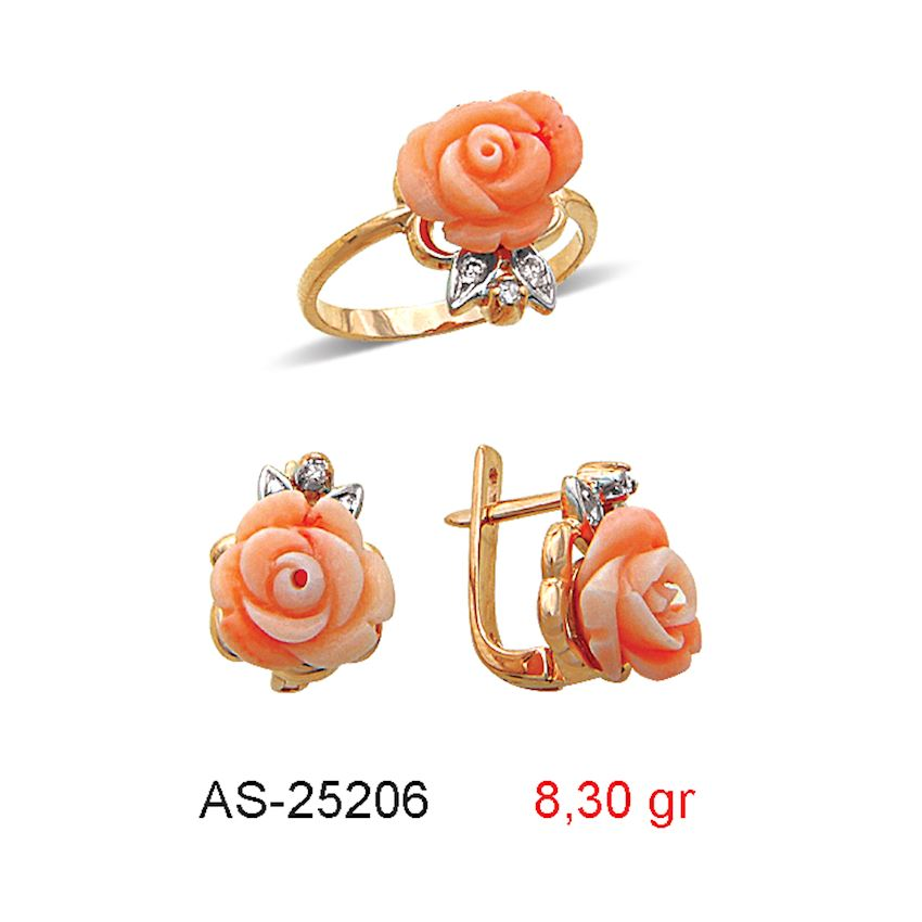 Jewelry Sets- CORAL MINI SET  AS-25206