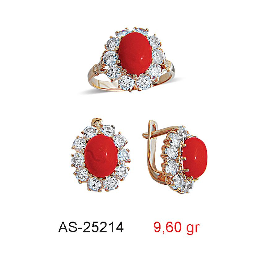 Jewelry Sets- CORAL MINI SET  AS-25214