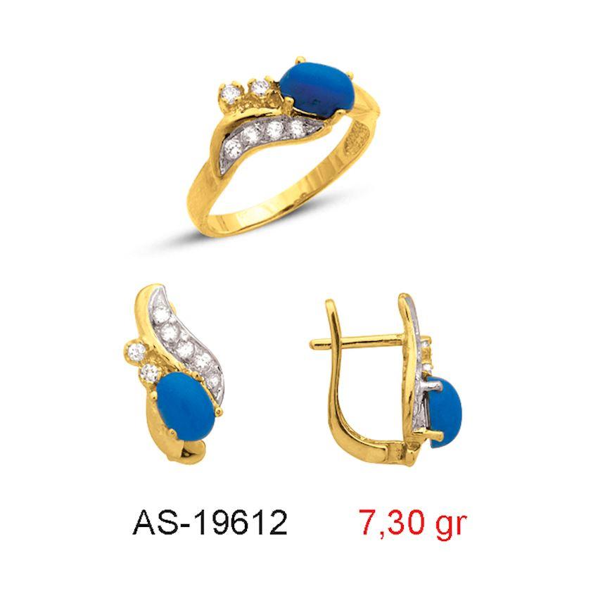 Jewelry Sets- TURQUOISE STONE MINI SET AS-19612