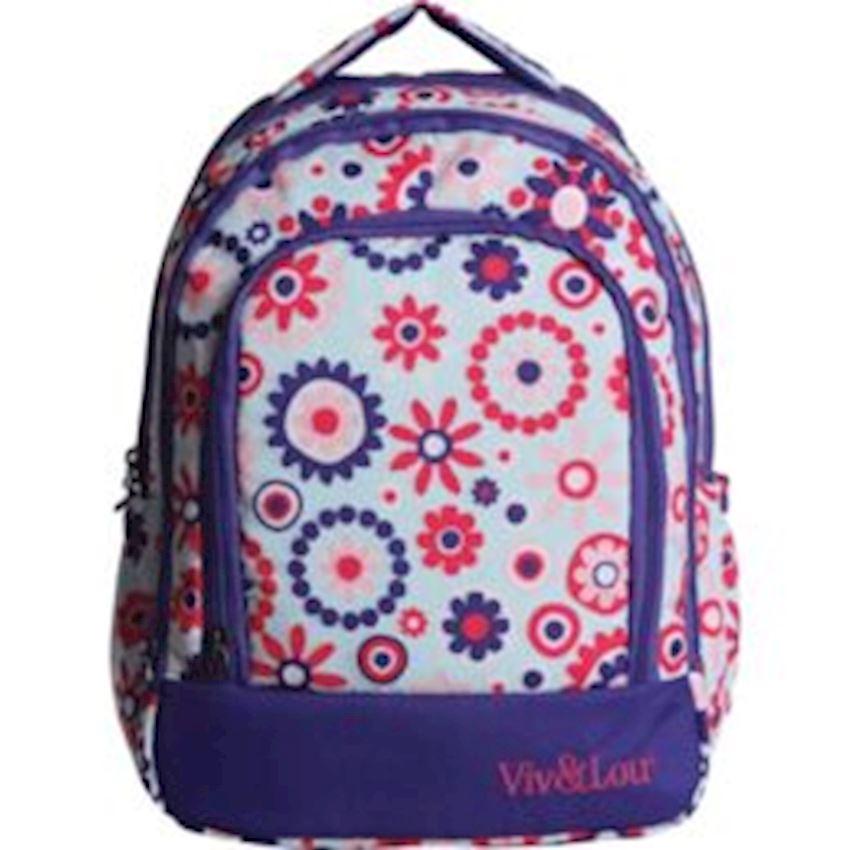 Kaukko Kids & Love Lavender Backpack V5005 Backpacks