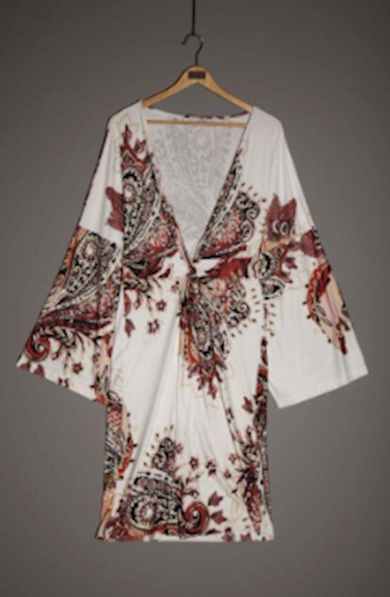 Kimono Cut Floral Dress