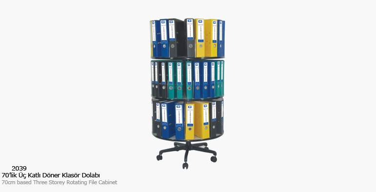 KOÇ office filing cabinet Three Layer Rotary Folder Cabinet Filing Cabinets