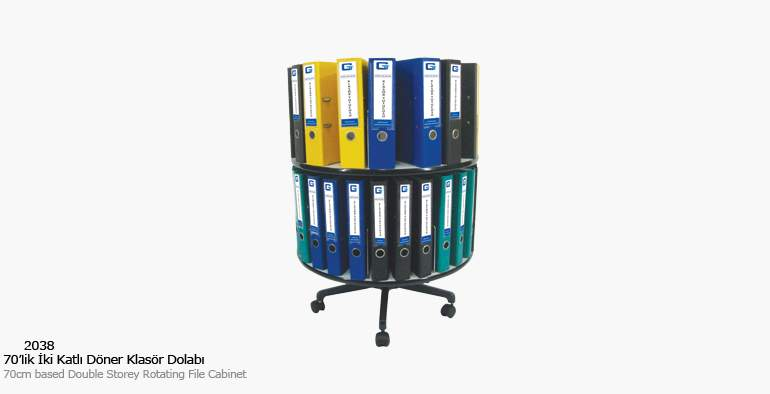 KOÇ office filing cabinet Two Storey Rotary Folder Cabinet Filing Cabinets