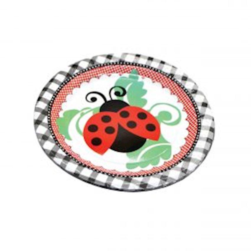 Ladybird Beetle Cardboard Plate 23cm Event & Party Supplies