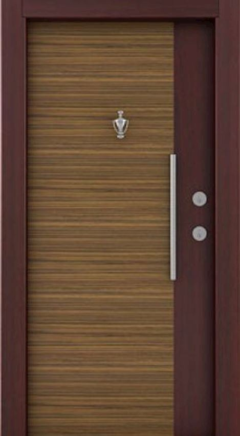 laminated steel doors Mahogany Zebrano Laminated Steel Door