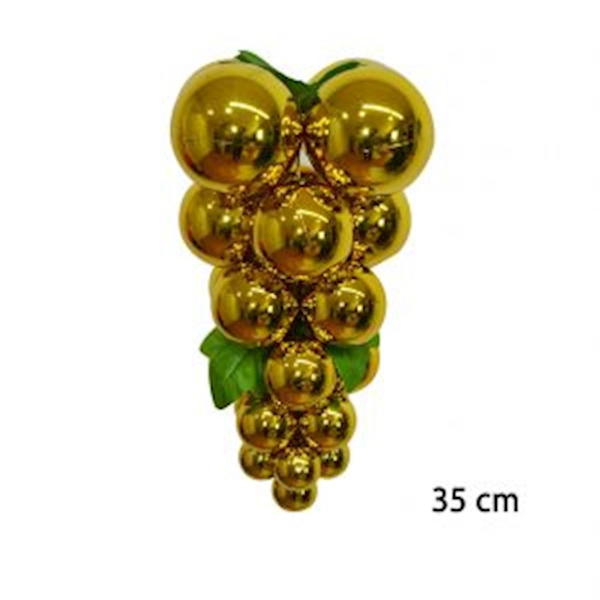 Large Size Bunch of Christmas Ceiling Ornament Gold Christmas Decoration Supplies