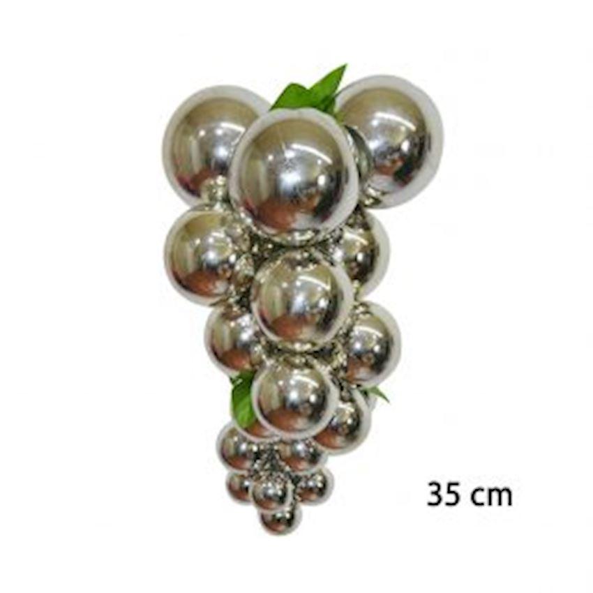 Large Size Grape Bunch Christmas Ornament Silver 35cm Christmas Decoration Supplies