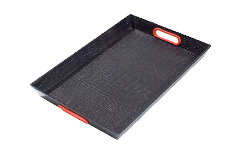 LARGE TRAY WITH LEATHER PATTERN LUXURY KU-100