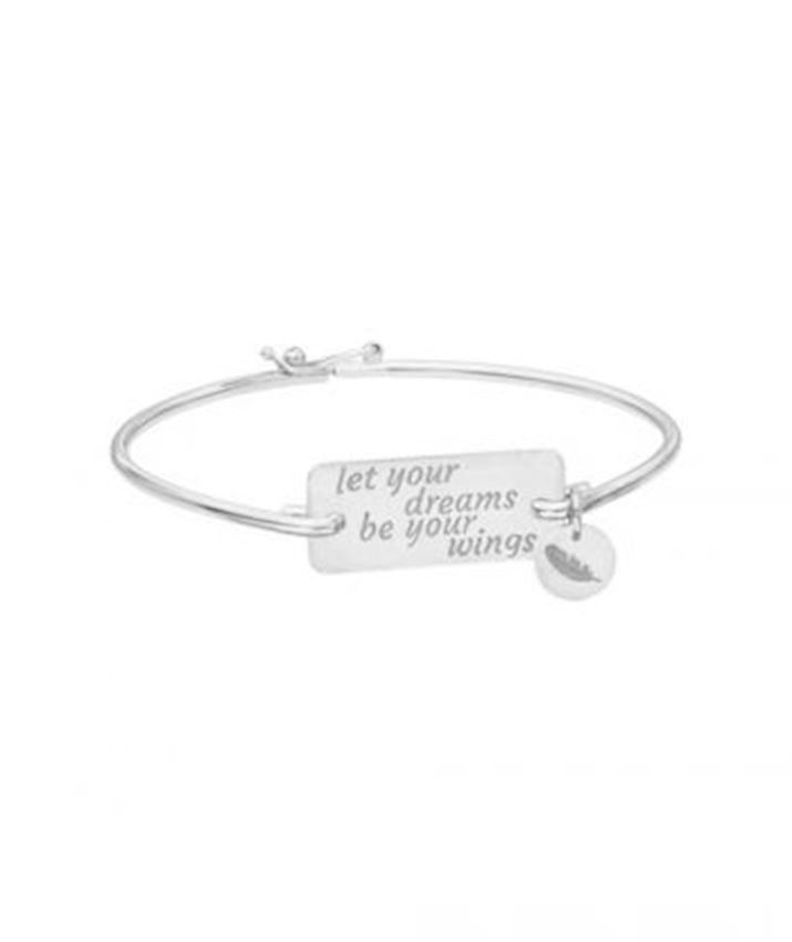 Let Your Dreams Be Your Wings Motto Bangle