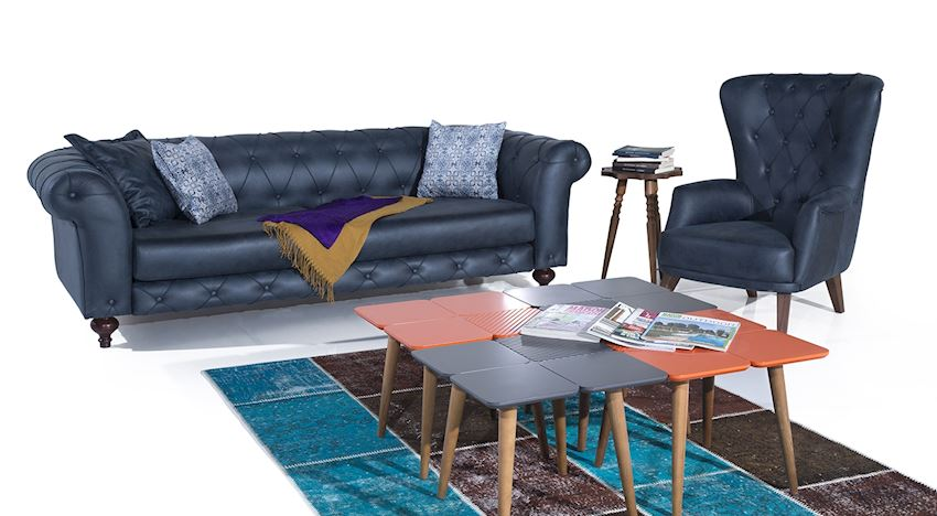 Living Room Sets Bella Blue
