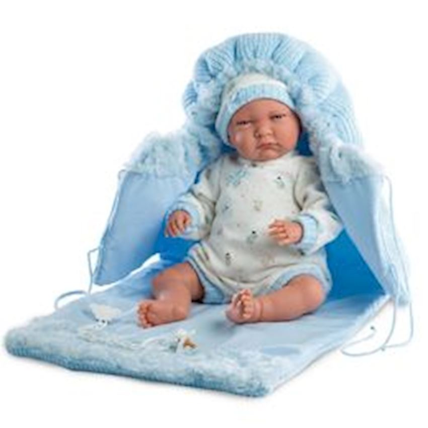 Llorens Lalo Lloron Light Blue Changing Bag Voice 42cm Other Baby Toys