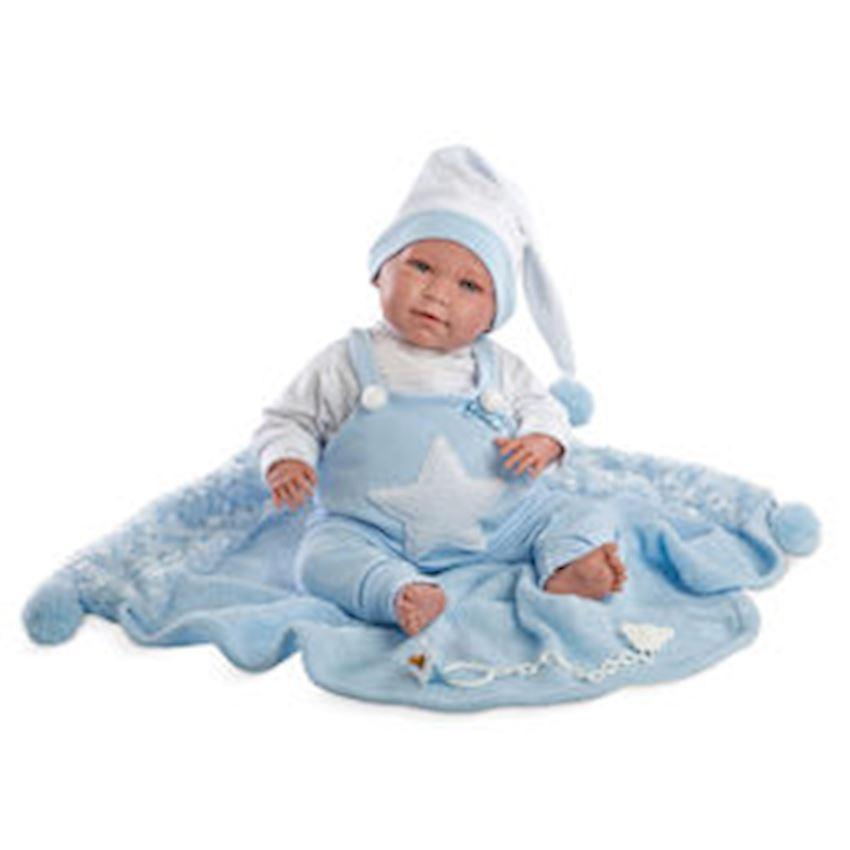Llorens Lalo Pajama Toquilla Azul Sesli 35 Cm Other Baby Toys